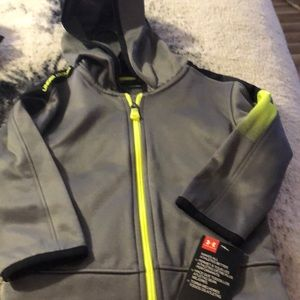 NWT hooded zip up track jacket